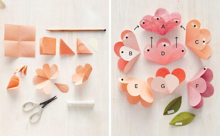 Manualidades Bonitas Y Secillas Para Chicas Parte2: Flores En Cartulina - Buscar Con Google