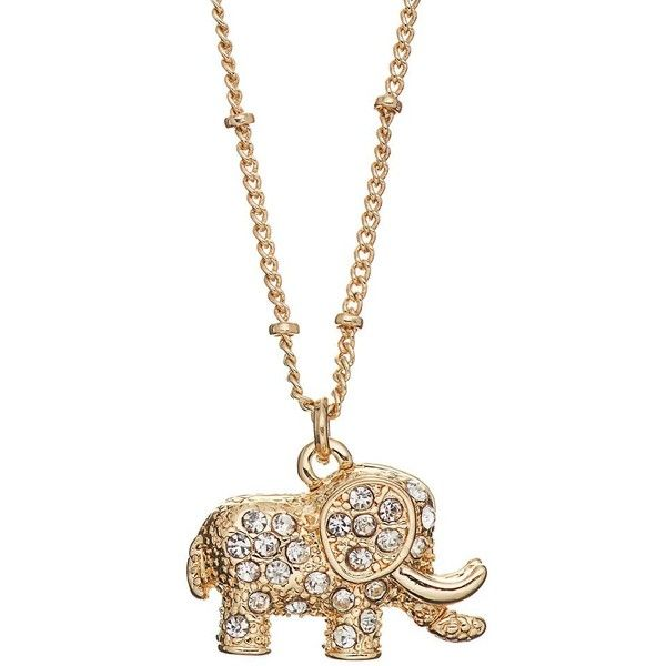 Lc lauren conrad long elephant pendant necklace 899 liked on lc lauren conrad long elephant pendant necklace 899 liked on polyvore featuring jewelry aloadofball Images