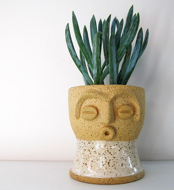 Limited edition face planter - perfect for air plant, succulent or cactus - LAST ONE. $36.00 USD, via Etsy.