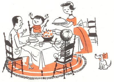 An age old tradition... Families bond when they eat together!