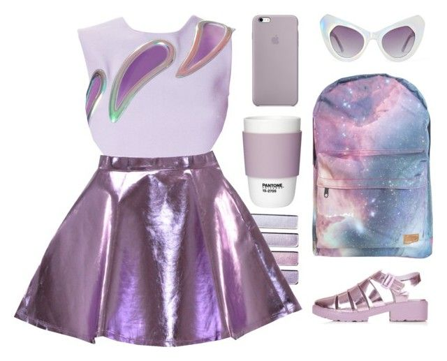 """""""back to the future ."""" by naturally-inspired on Polyvore featuring UNIF, Topshop, Christopher Kane and Pantone"""
