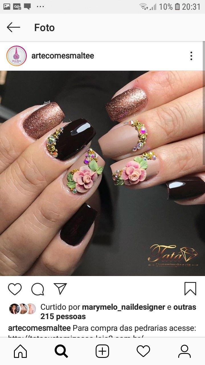 Untitled Glamorous Nails Fashion Nails Glitter Nail Art
