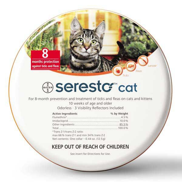 Seresto Flea and Tick Collar for Cats. Protect cats from