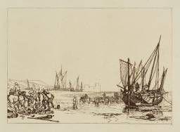 Joseph Mallord William Turner 'Scene on the French Coast', 1807