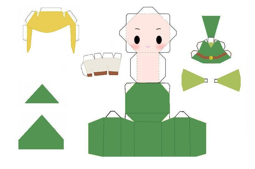Anime Papercraft Templates  Deviantart More Like Peach