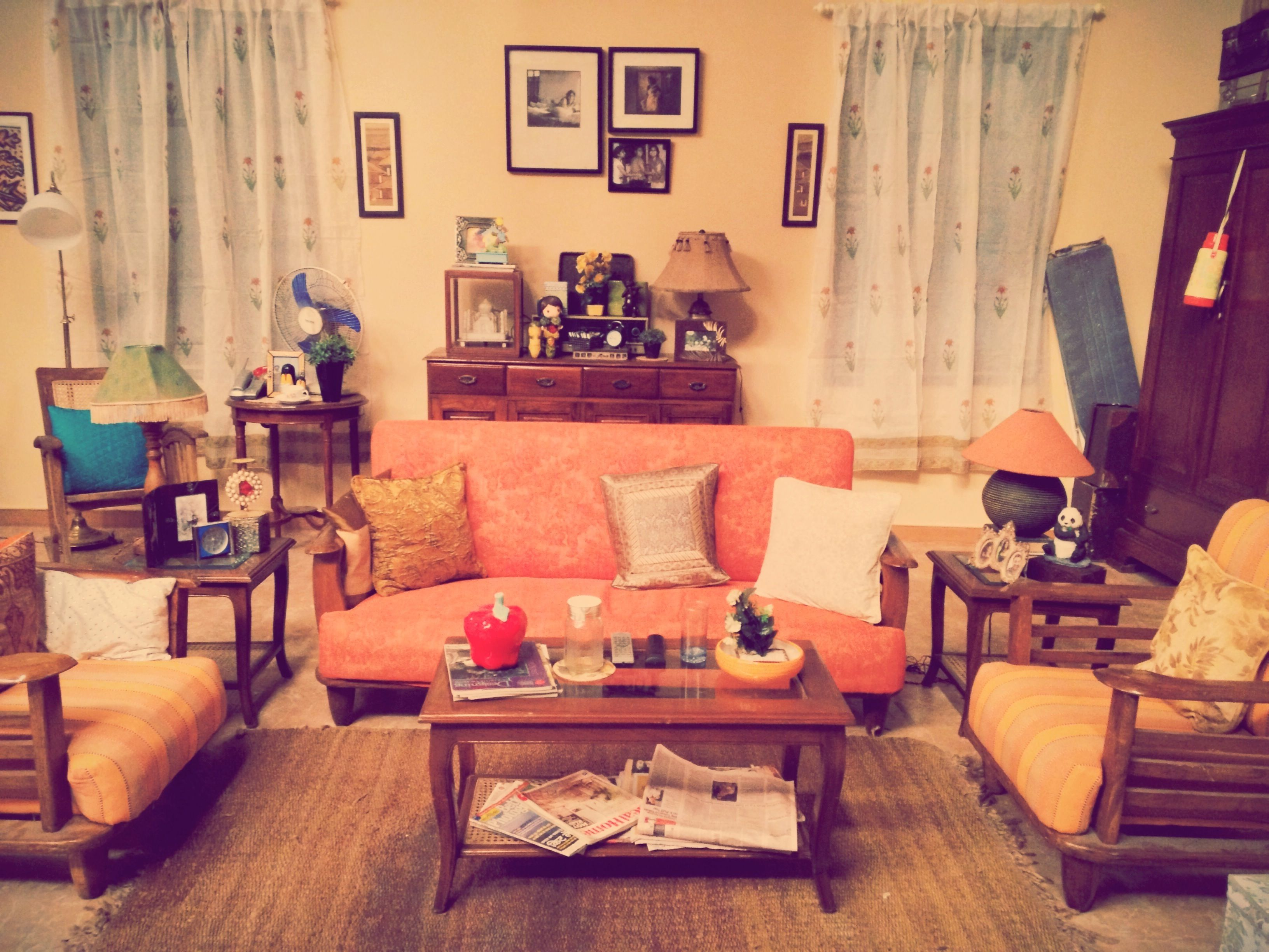 Middle class indian living room styled by niyoti niyoti for Living room designs indian style