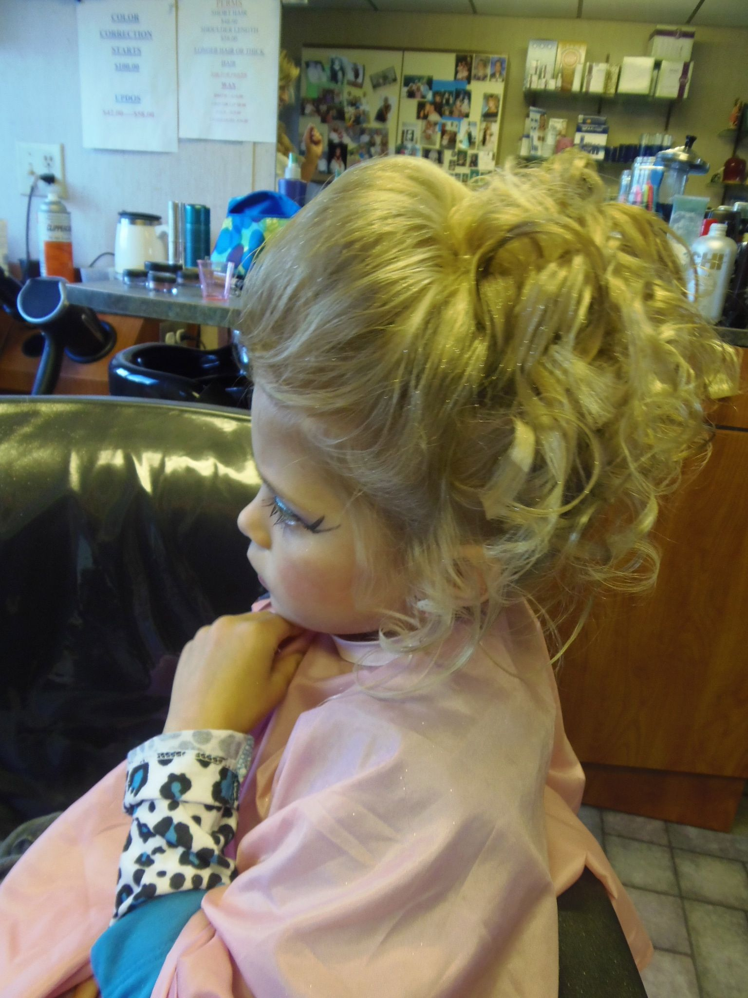 little girl updo | hair | pageant hair updo, pageant hair