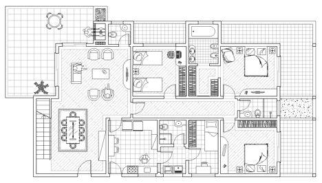 Piante Da Appartamento Dwg.Ville Residenziali Dwg Progetti Ville Houses Dwg Villa