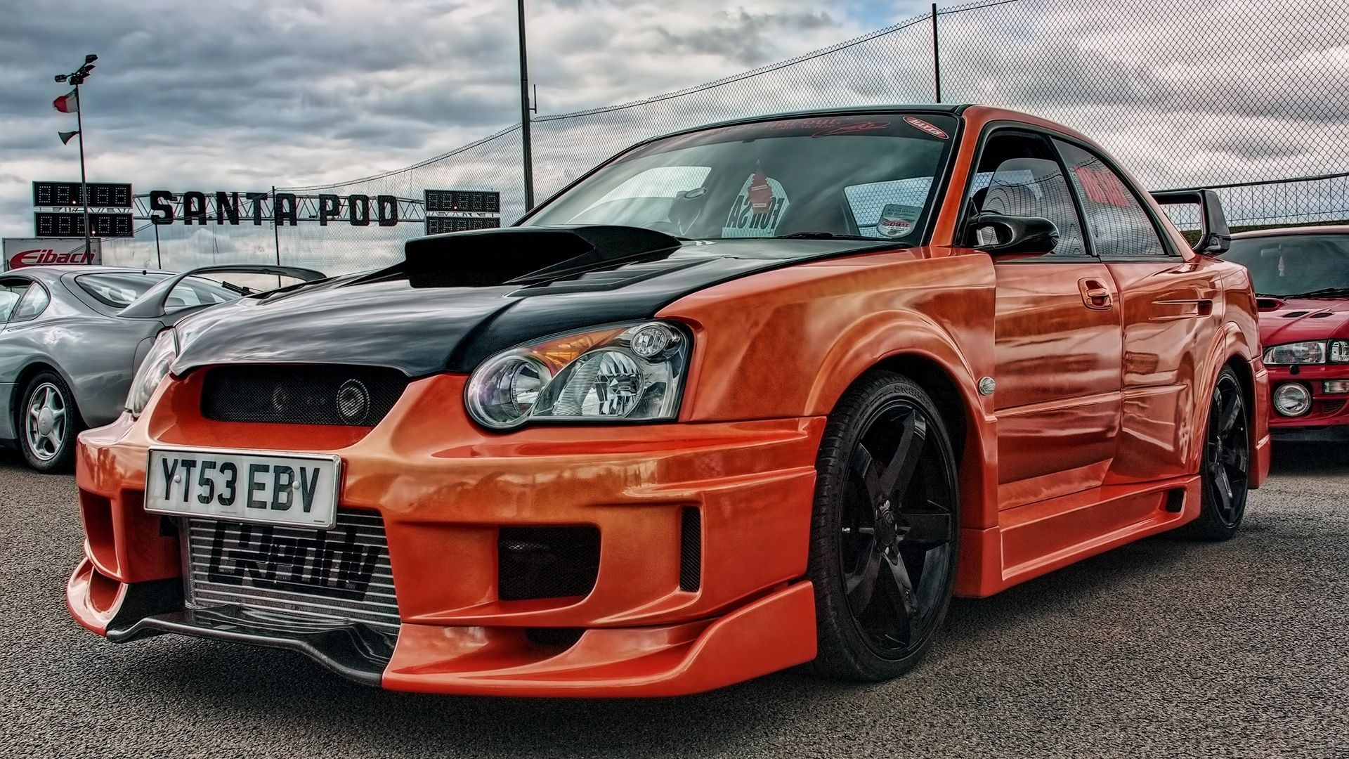 orange subaru impreza tuning race car wallpaper http. Black Bedroom Furniture Sets. Home Design Ideas