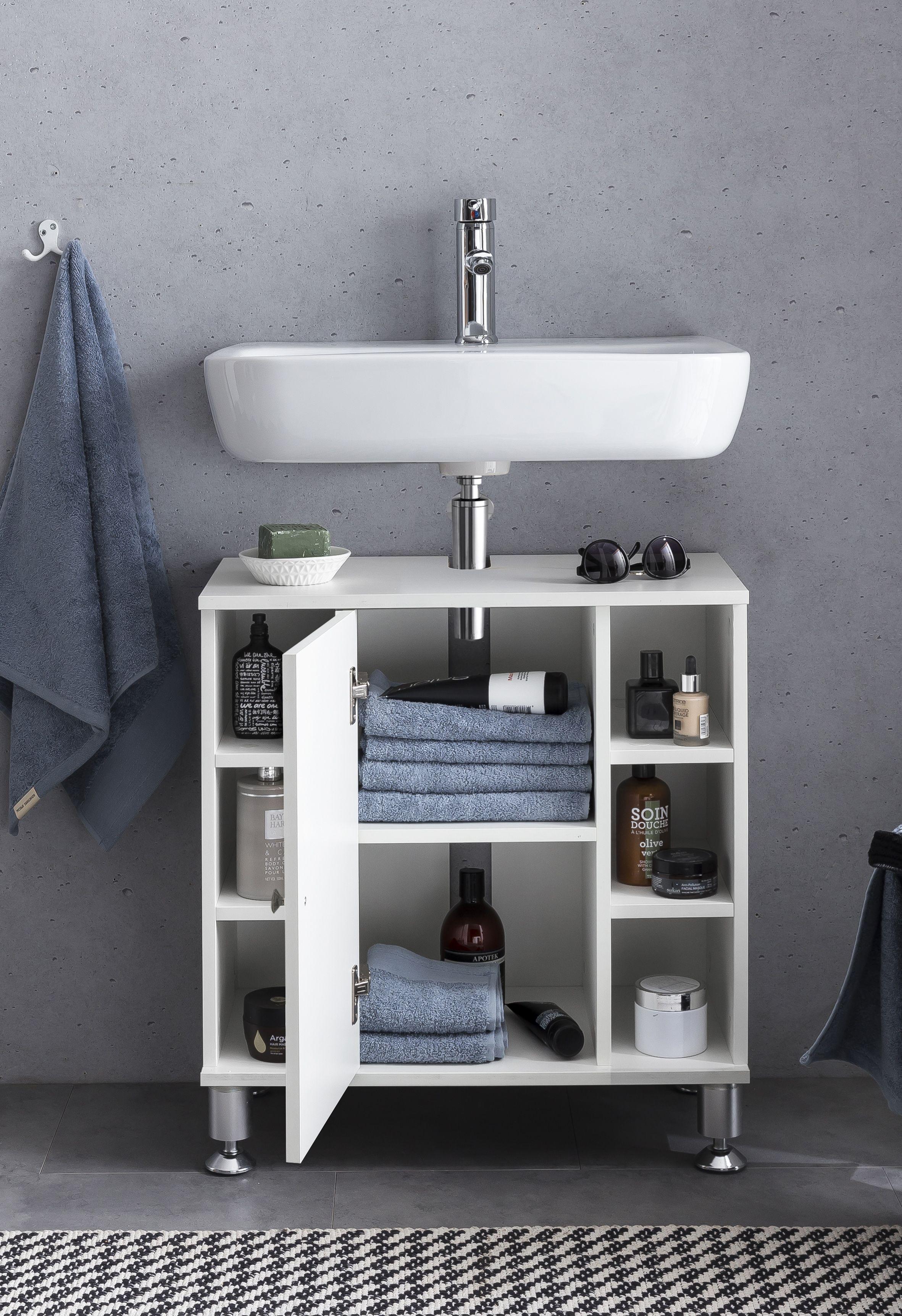 Wohnling Waschbeckenunterschrank Weiss Wl5 752 Aus Spanplatte