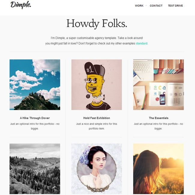 Dimple WordPress Theme for Agencies | Best WordPress Themes 2013