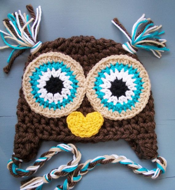 Owl Beanie   Patrones De Ganchillo   Pinterest   Gorros, Gorro ...