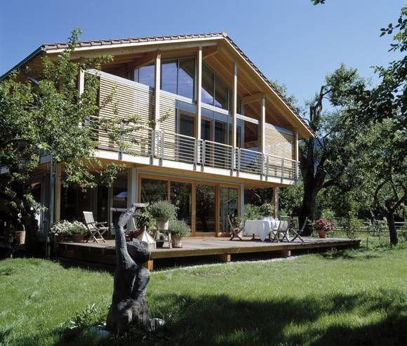 Moderne holzhäuser architektur  modernes baufritz haus - Google Search | Fenster Architektur EFH ...