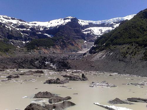 VENTISQUERO NEGRO. Cerro TRONADOR. UNICO GLACIAR NEGRO!!!