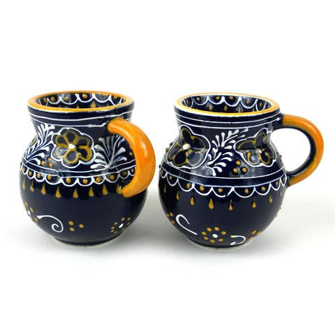 Pair of Beaker Cup - Come Together Trading || #Handmade in Mexico, these unique, vibrant mugs are led-free, dishwasher and microwave safe. It's a perfect touch to your morning #coffee routine or for summer entertaining! Find great products at @philorgs.