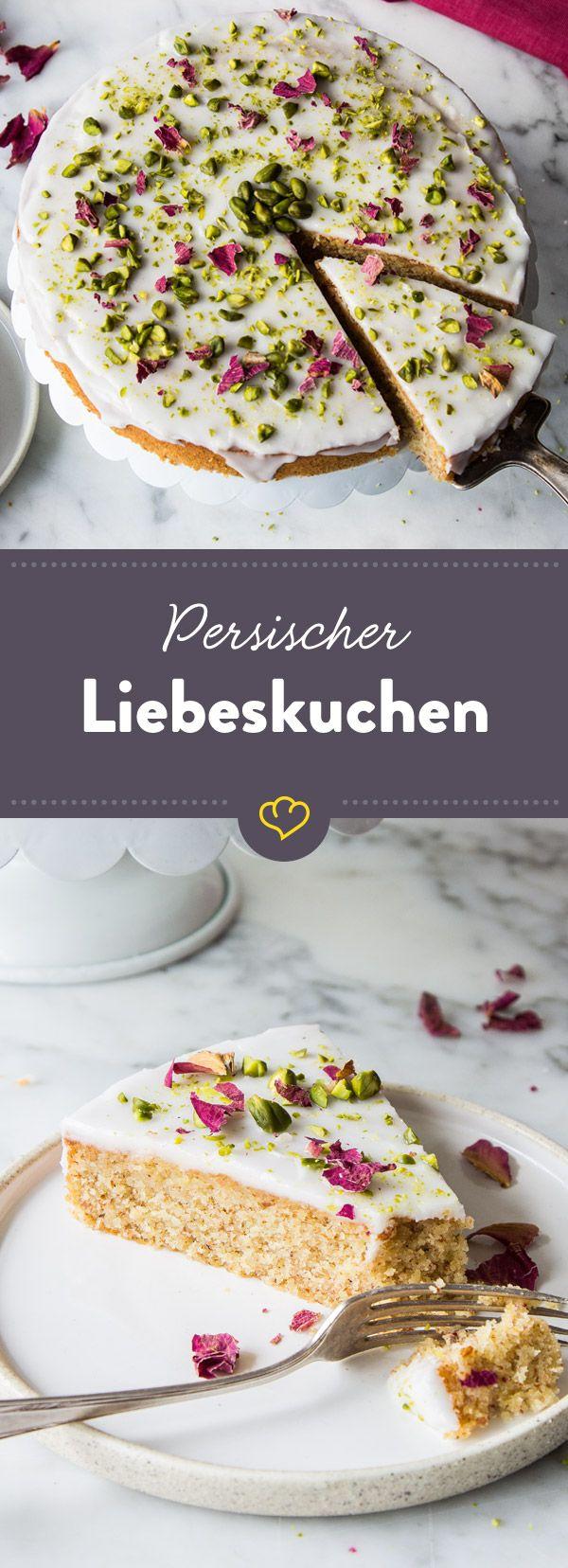 Persischer Liebeskuchen mit Rosenwasser #dessertrecipes