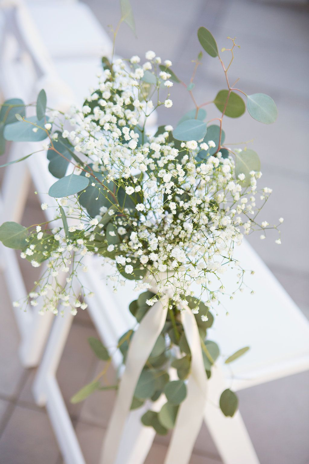Baby S Breath And Eucalyptus Decor At Wedding Ceremony Youreventflorist Weddingflow Wedding Isle Decorations Wedding Aisle Outdoor Wedding Aisle Decorations