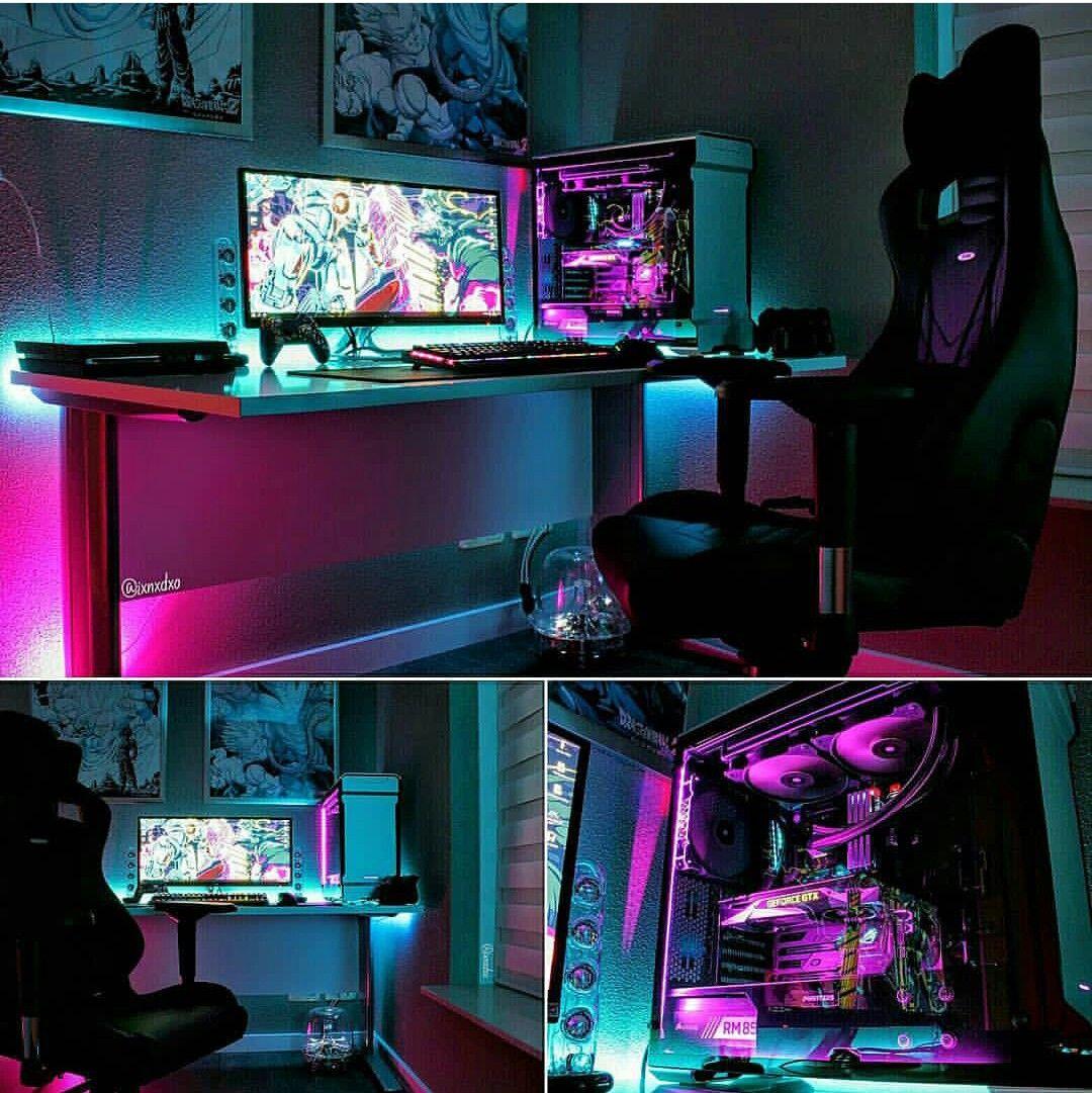 Awesome Desk Setup Pinteres