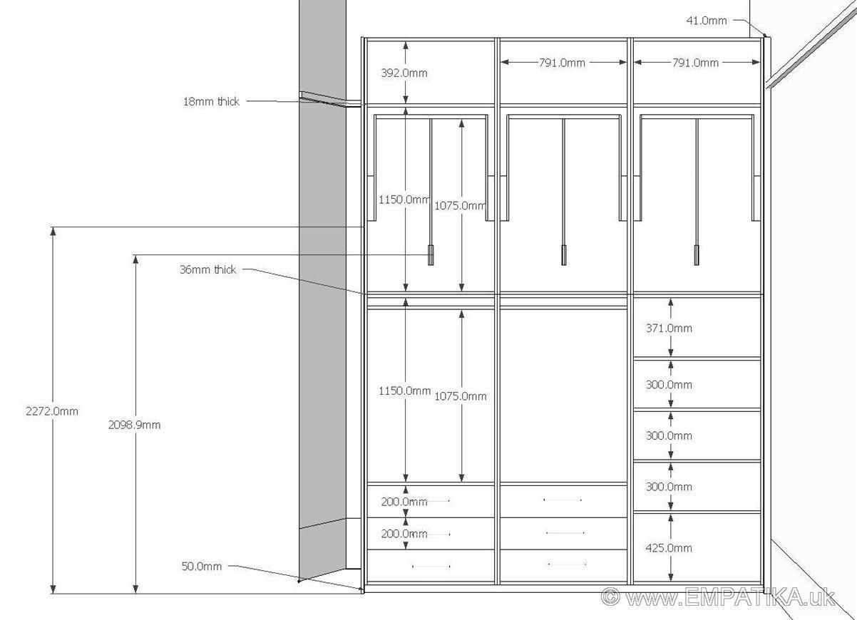Wardrobe Interior Dimensions Google Search Wardrobe Dimensions Wardrobe Door Designs Wardrobe Design