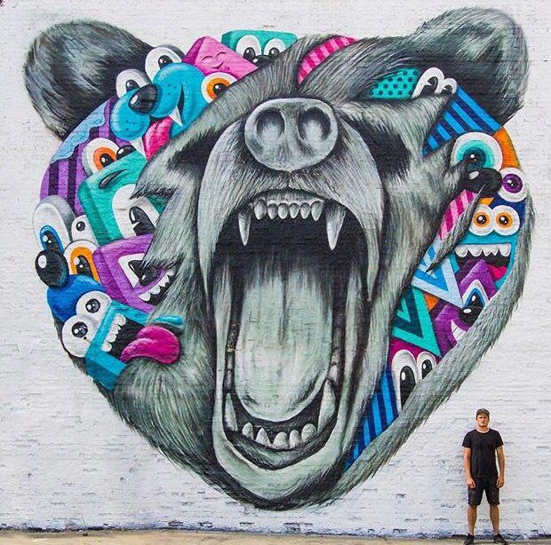Greg Mike In Atlanta Georgia LP A Livre Arte Das Ruas - Clever free bird see graffiti spotted in chicago leads to a creative surprise