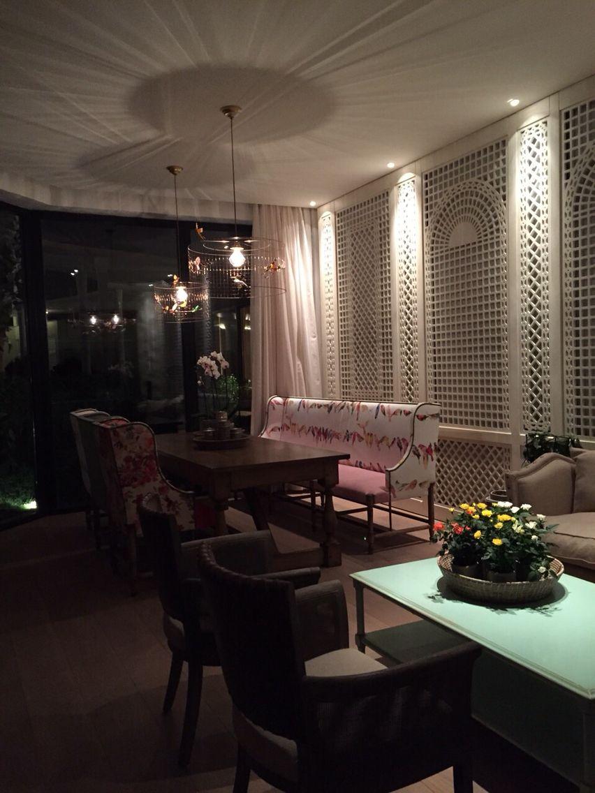 winter garden privet restaurant in baku design by nader mobargha