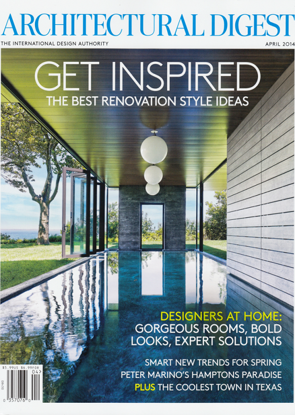 Architectural Digest April cover Architectural digest