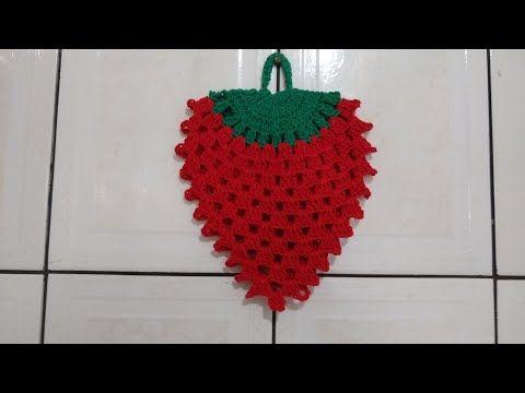 Puxa Saco De Morango Em Croche Youtube Com Imagens Puxa