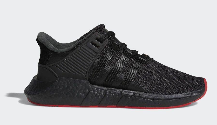 7245b530d503 Adidas Originals Eqt Equipment Support 93-17 ADV Boost Black Red Carpet  CQ2394