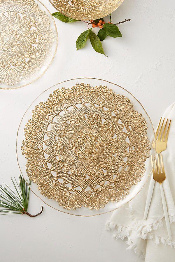 Metallic Lace Dinner Plate & Metallic Lace Dinner Plate | Dinnerware Table settings and Weddings