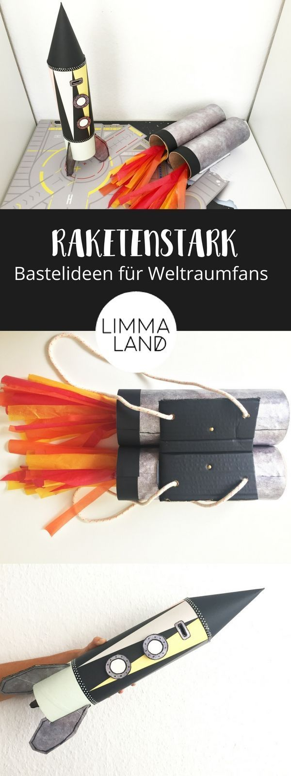 Rakete basteln - Tolle Upcycling Ideen für kleine Astronauten – Limmaland Blog  #Astronauten #basteln #Blog #für #Ideen #Kleine #Limmaland #Rakete #tolle #upcycling