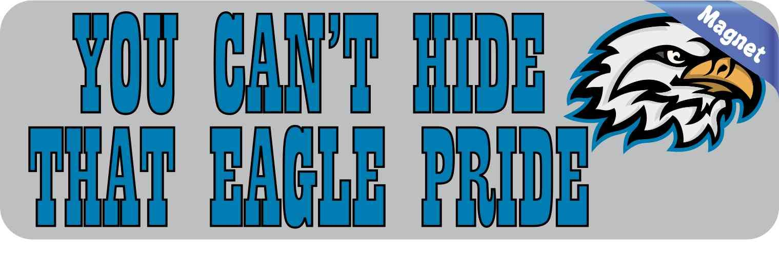 X blue you cant hide that eagle pride bumper sticker mascot decal