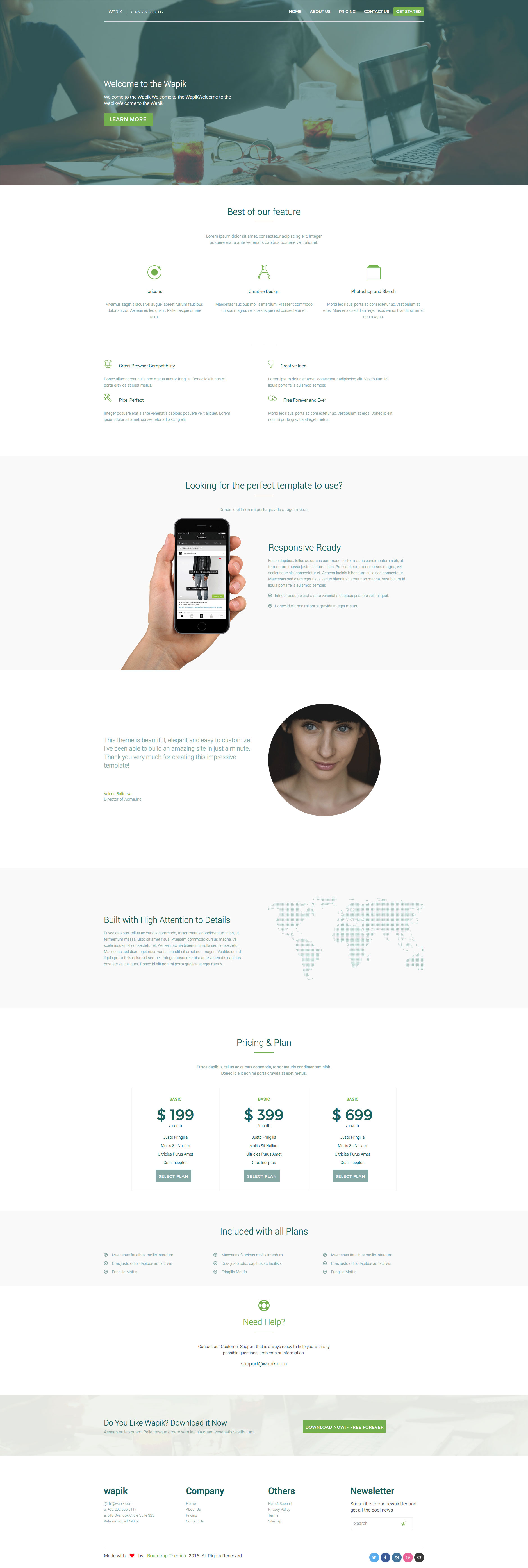 Wapik is a free responsive html5 business template designed for any wapik is a free responsive html5 business template designed for any kind of business website wapik template comes with three aditional pages and built with flashek Choice Image