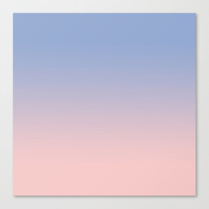 Pantone Rose Quartz And Serenity Ombre Canvas Print by Tamsin Lucie - MEDIUM