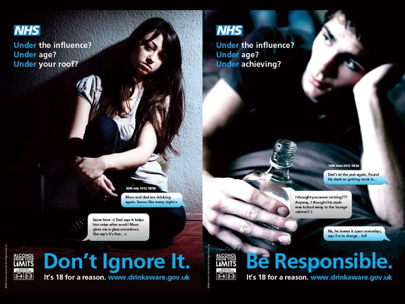 nhs alcohol awareness advertising