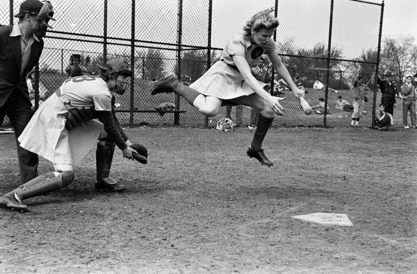 A Little Known Rule In The All American Girls Professional Baseball League Awarded First Base To A Batter Professional Baseball Baseball League Baseball Girls