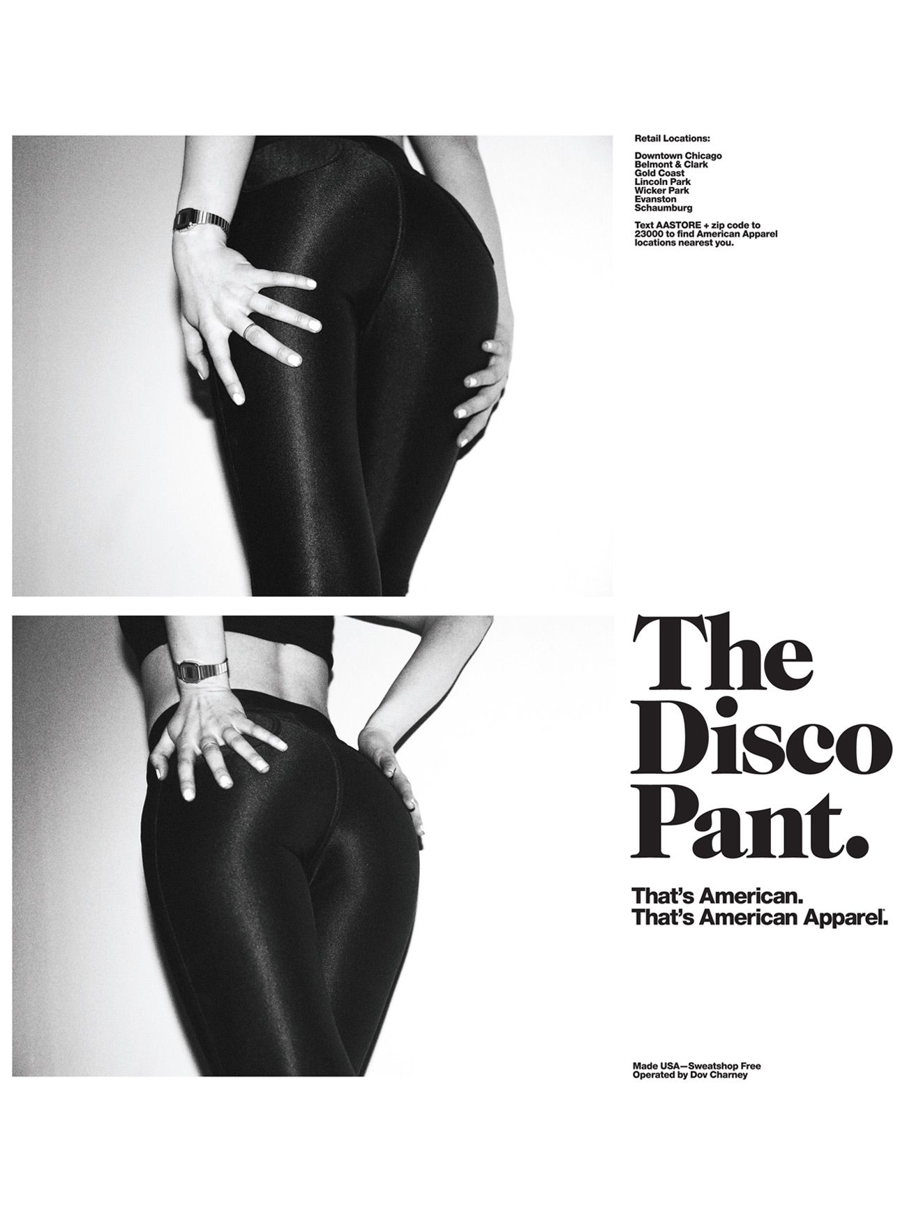 ebe60ec0f3b The Disco Pant. That s American Apparel.  Ads  advertisement