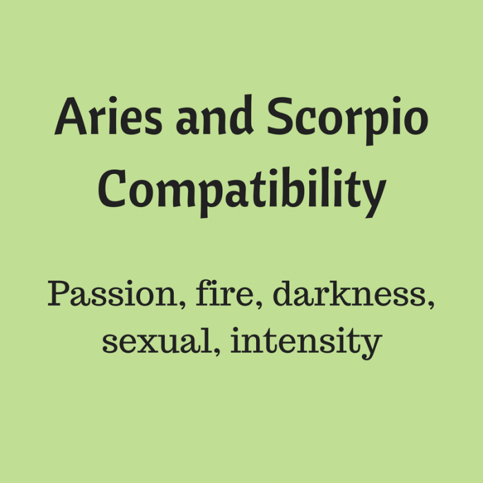 Aries and scorpio couples