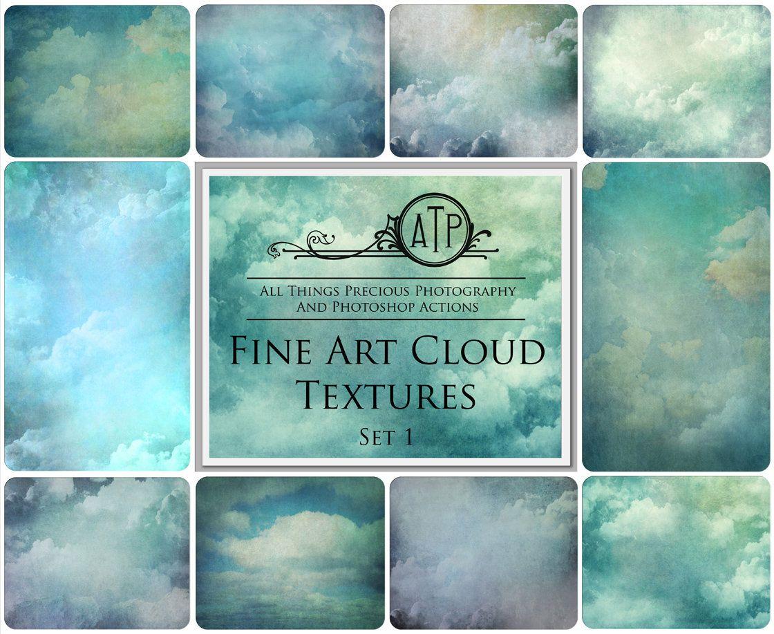10 Fine Art Cloud Overlays Textures Set 1 Photography