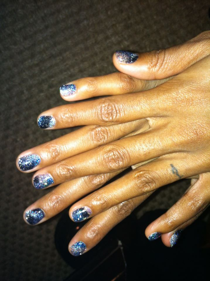Galaxy Multi Colored Rockstar Creation | Rockstar Gel Nails | Pinterest