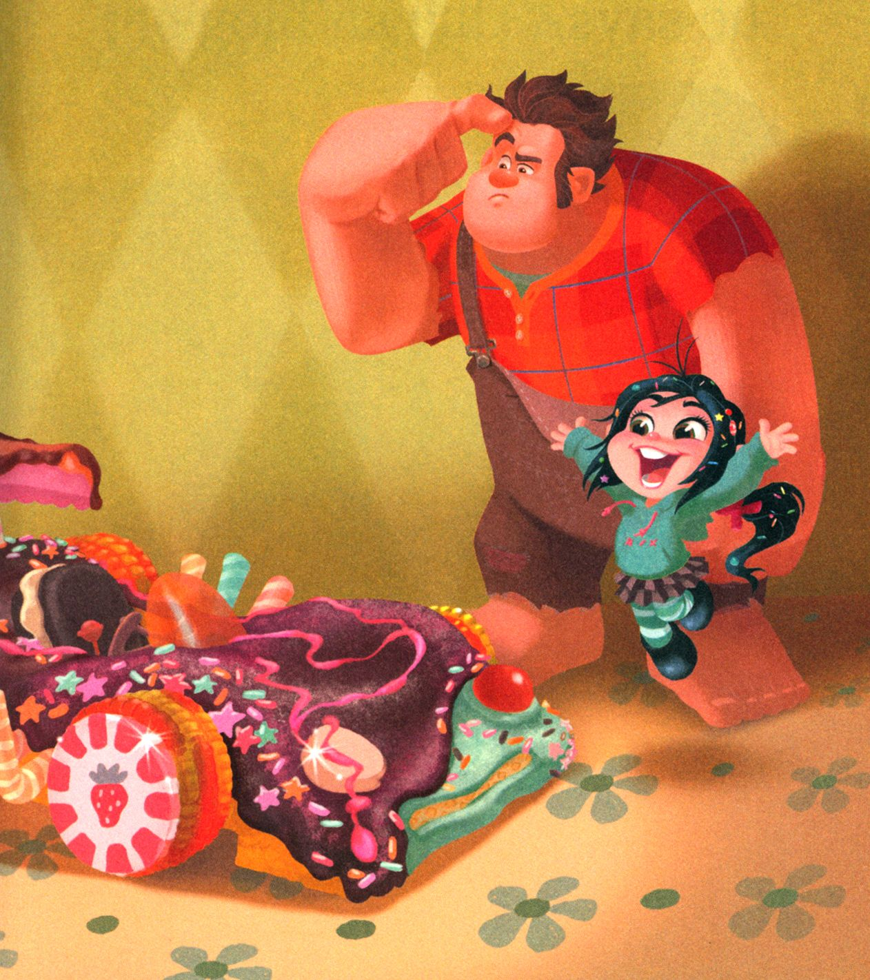 Wreck It Ralph - Concept and Tie-in Art  This movie was adorable!