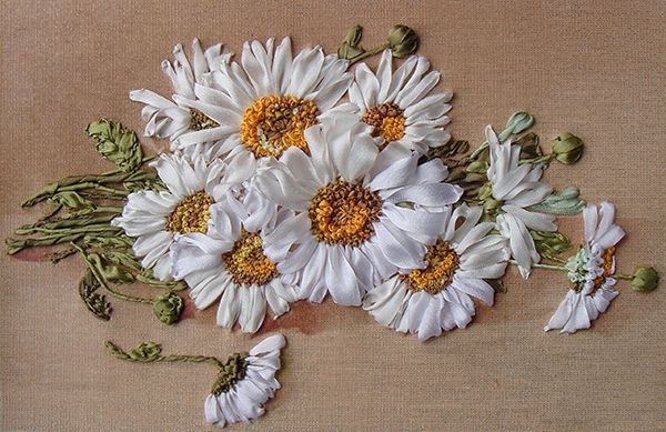 Silk ribbon embroidery for beginners flores