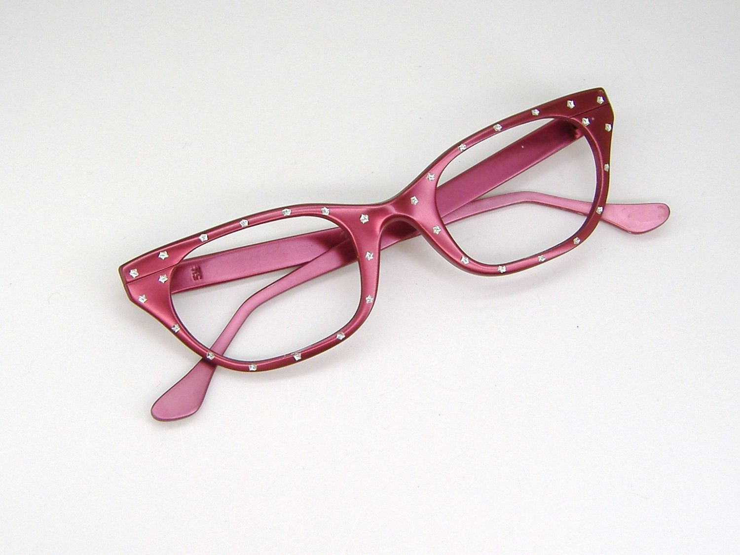 Vintage 50s Hot Pink Cat Eye Eyeglasses Sunglasses Frame | Frames ...