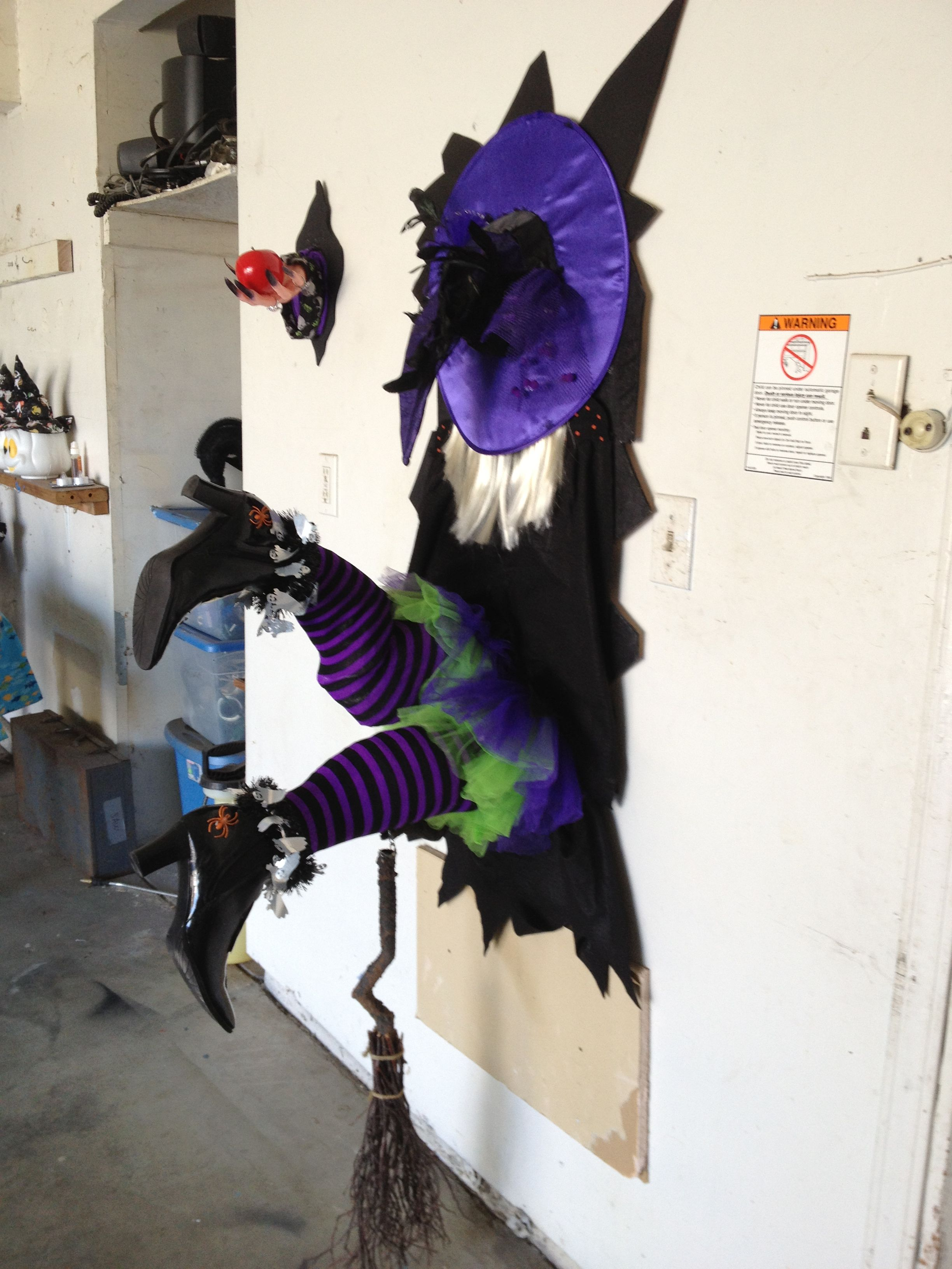 My Crashing Witch I Think She Needs A Few More Flying Lessons Before Halloween Halloween House Decoration Halloween Door Decorations Halloween Classroom