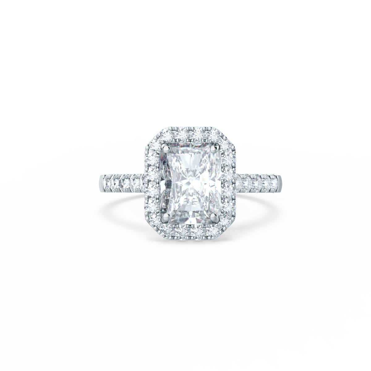 Introducing the new esme radiant cut halo engagement ring available