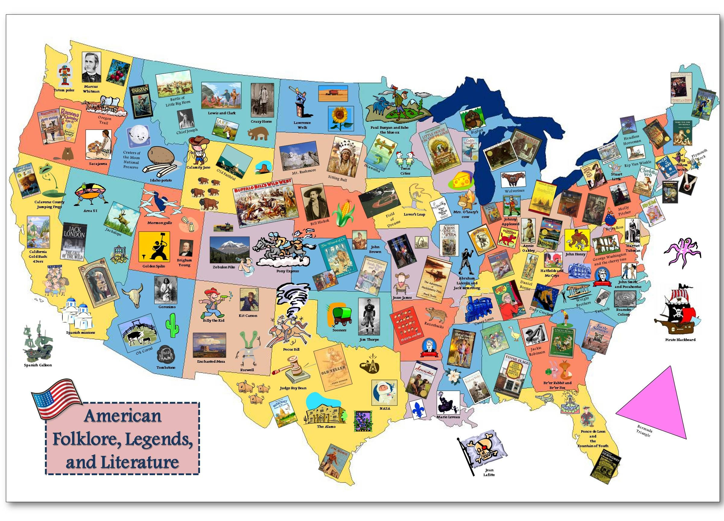 Tall Tales Tall Tales Literature And Folklore - Paul bunyan in us map