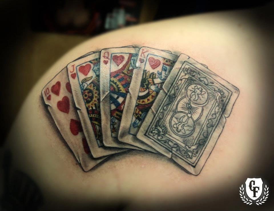 Great Theme Tattoo Royal Flush Draw