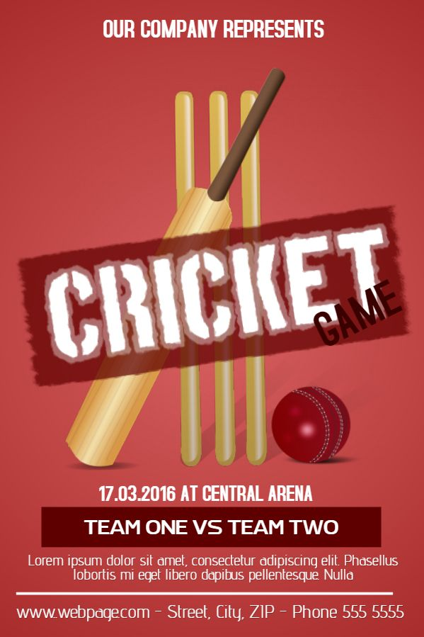 cricket game tournament poster template  click to