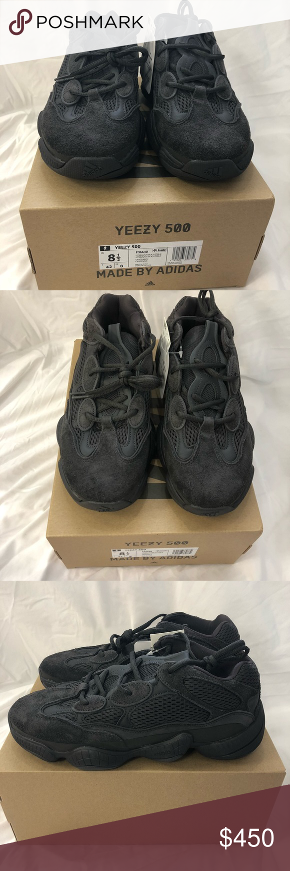 c8ff7fd48 NWT Utility Black Yeezy 500 Brand new in box Utility Black Yeezy 500s in size  8 1 2. This is a men s sized shoe. Yeezy Shoes Sneakers