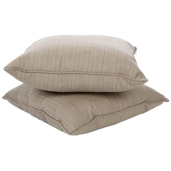 Clara 22-inch Indoor/ Outdoor Throw Pillows with Sunbrella Fabric (Set... ($70) ❤ liked on Polyvore featuring home, outdoors, outdoor decor, garden pillows, garden decor, sunbrella, outdoor fabric pillows and sunbrella outdoor pillows
