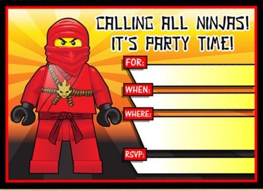 invitation blank printable ninjago